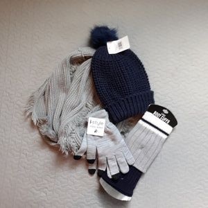 Accessories - Navy and gray winter bundle all NWT